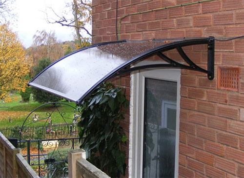 Marvelous Polycarbonate Door Awnings