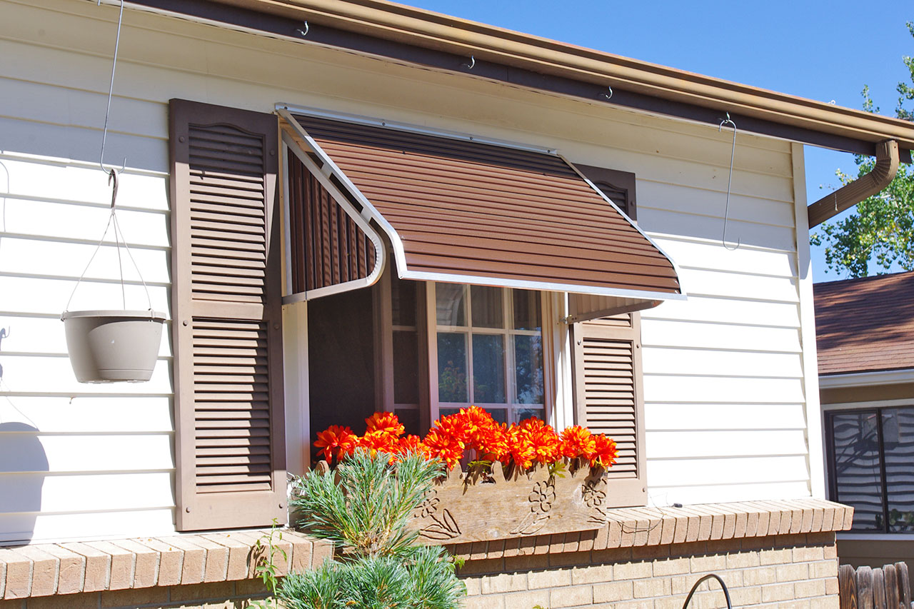 metal window & door canopies | general awnings