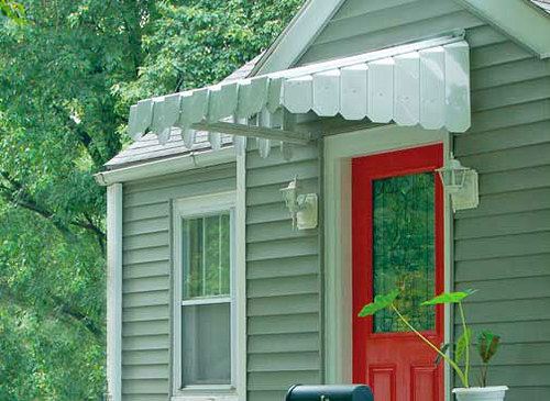 Brookside Door Awning with Angled Side Panels