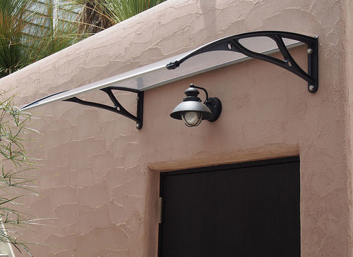 PC1200AL Series Door Canopy with Aluminum Brackets & Polycarbonate Door Awnings | General Awnings