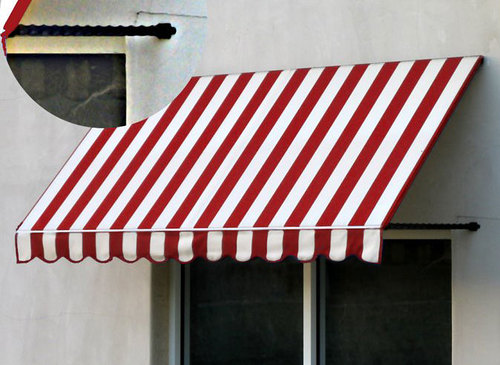 Santa Fe Window / Door Awning with Twisted Rope Support Arms