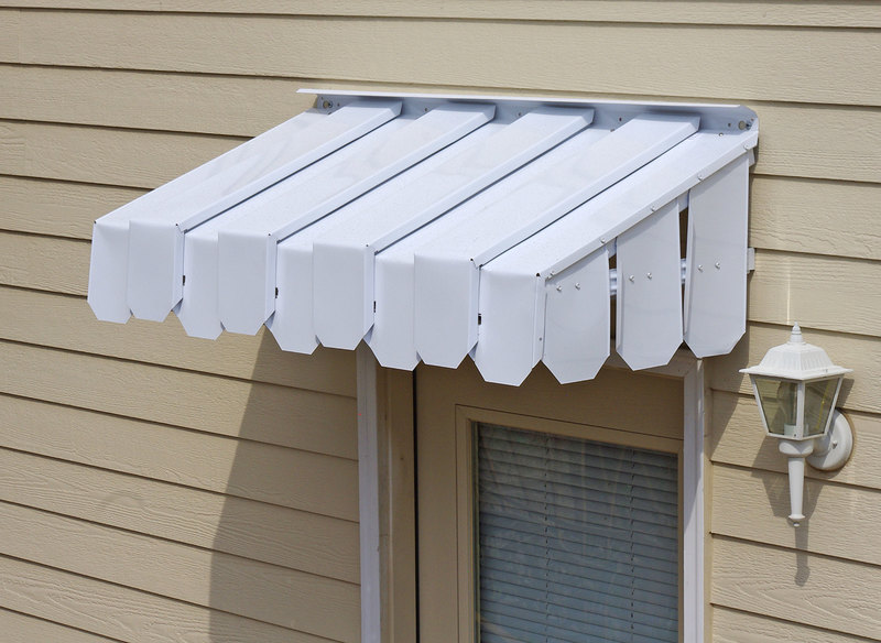 A Brookside Door Awning With Flat Side Panels