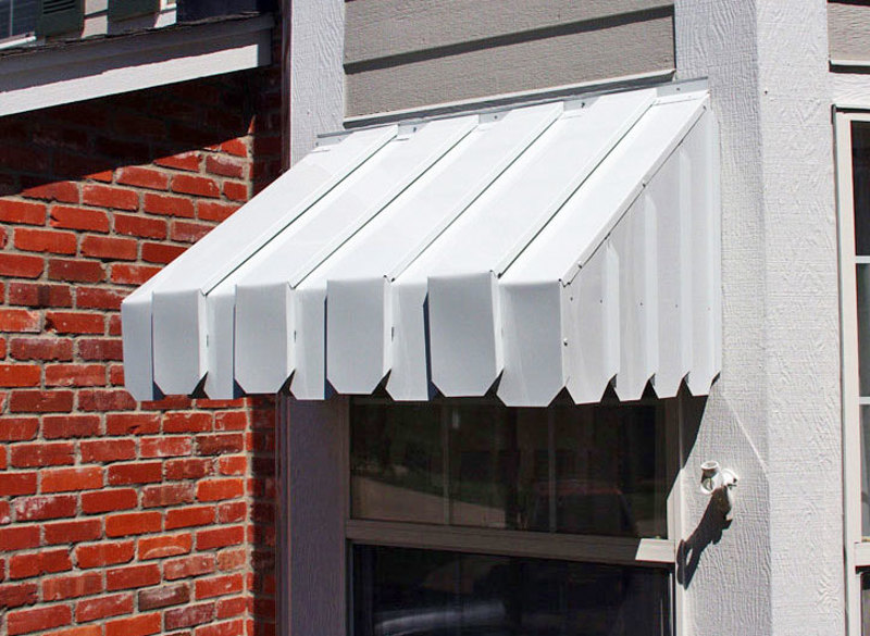 Metal Window Awnings : Ac economy window awning