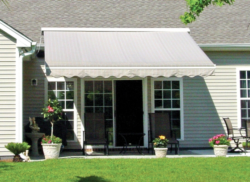 nushade retractable patio awning
