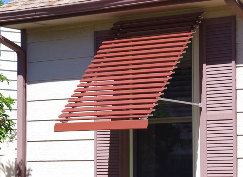 Metal Window Awnings : Panorama window awning custom colors