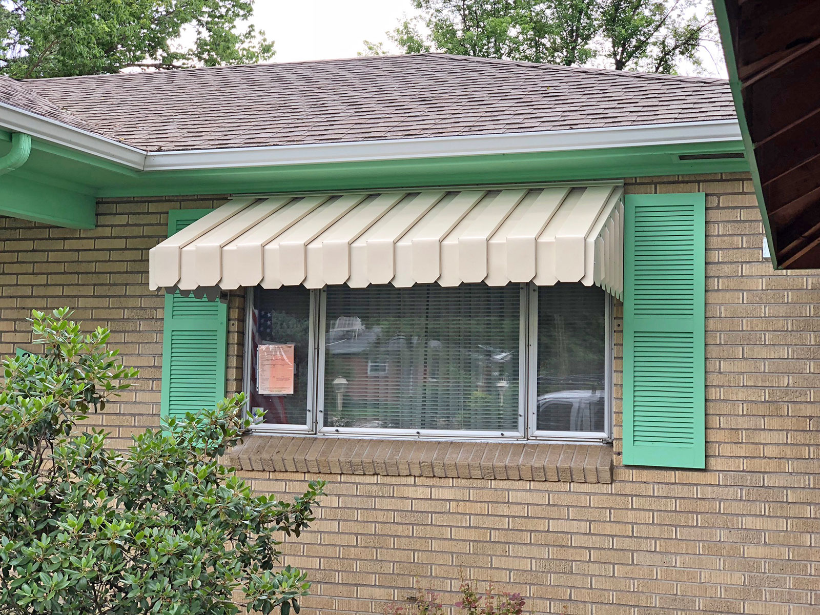 Metal Window Awnings : Ac pan type window and door awning