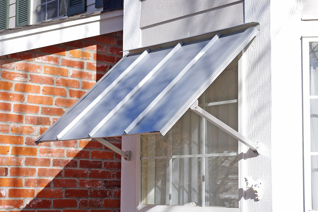 Austin standing seam window awning for Window awnings