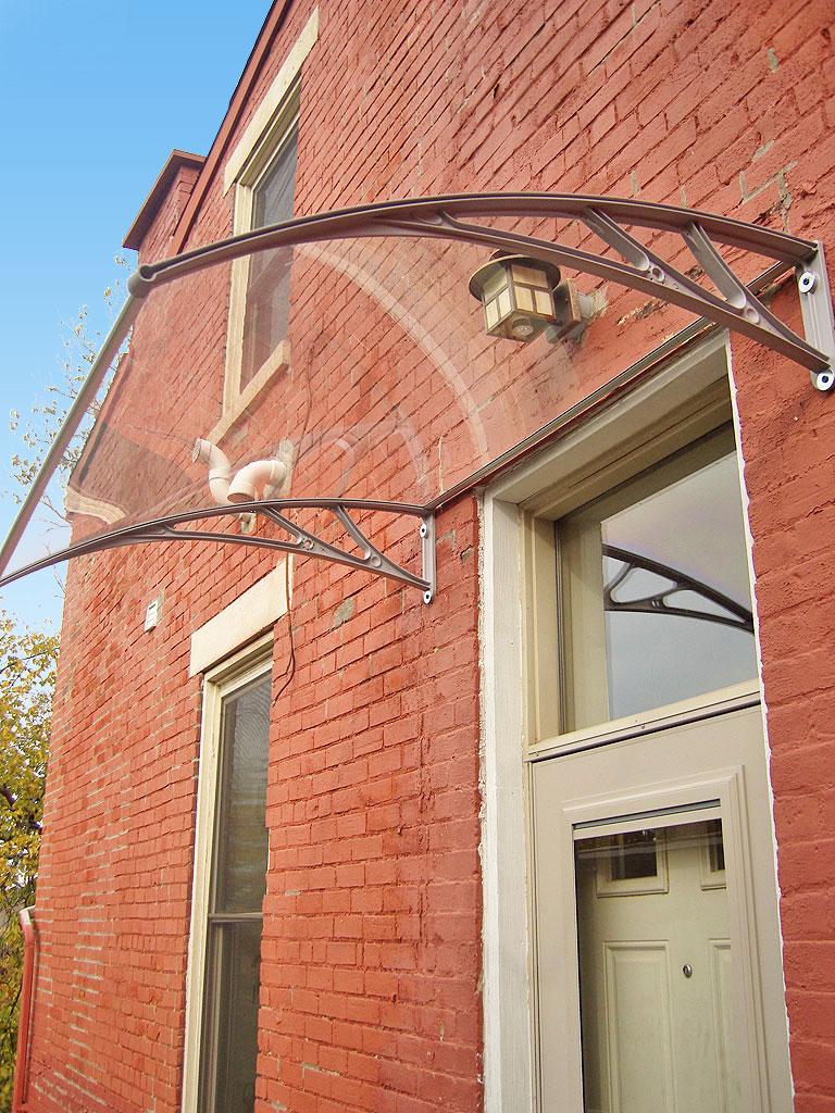 Pc1200 series door canopy for Exterior door awnings